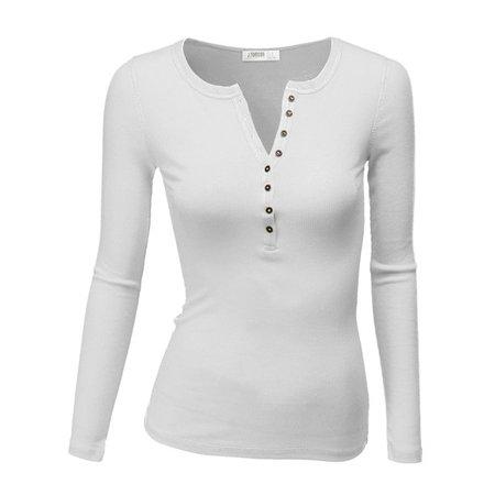 Doublju - Doublju Women's Thermal Henley Long Sleeve Top with Plus Size - Walmart.com - Walmart.com