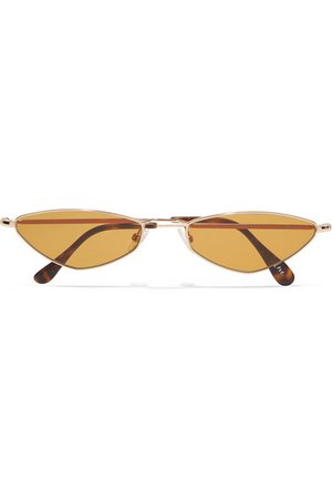 Andy Wolf | Eliza oval-frame gold-tone sunglasses