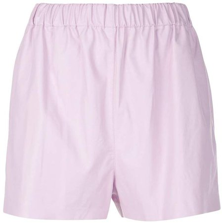 Tissue faux leather shorts