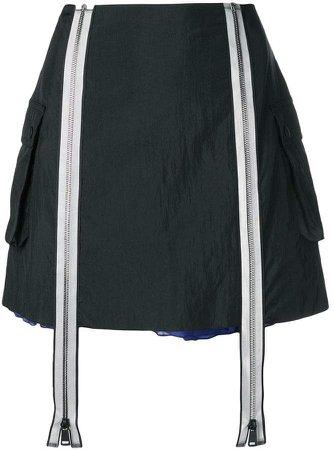 zip layered skirt