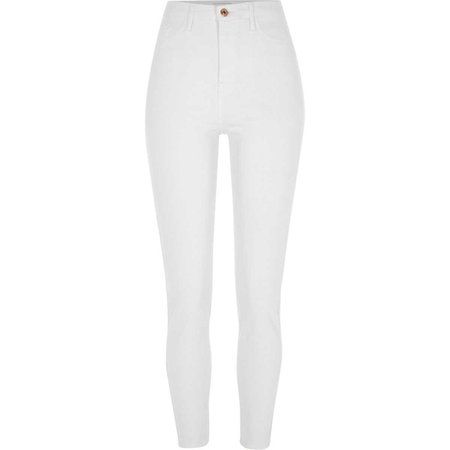 White Harper high waisted super skinny jeans - Skinny Jeans - Jeans - women