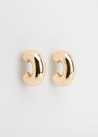Hoop earrings - Women | Mango USA gold