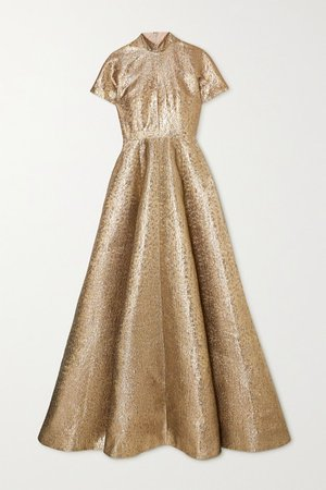 Malinda Lame Gown - Gold