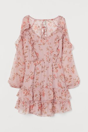 Back-laced Dress - Pink