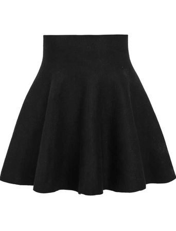 Romwe Black Skirt