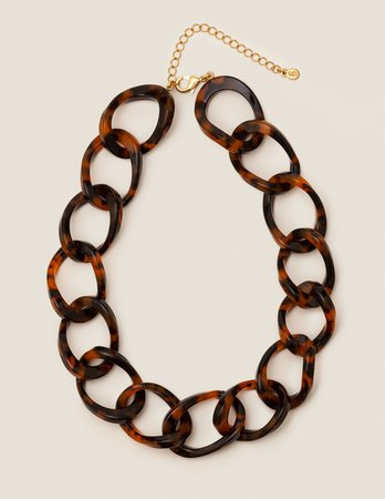Resin Link Necklace - Brown Tortoiseshell | Boden US