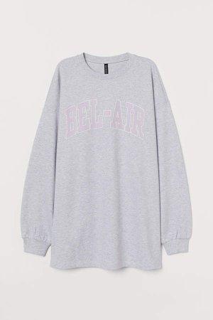 Long Sweatshirt - Gray