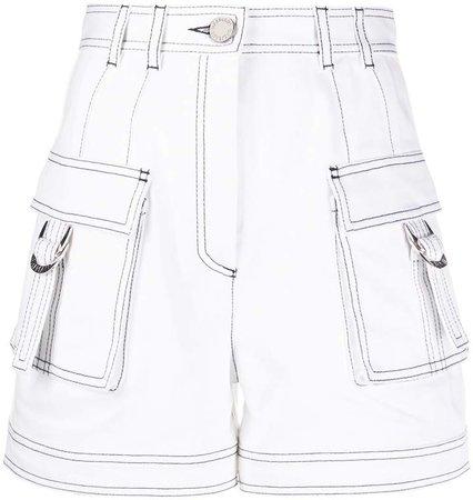 contrast stitch cargo shorts
