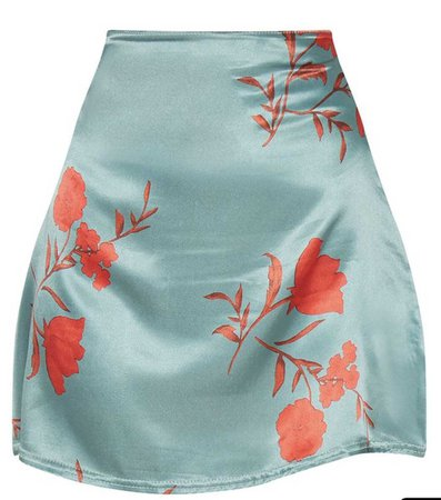 silk rose skirt