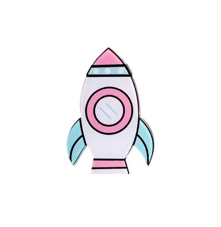 Pastel Rocket Pin Kawaii Space Ship Badge Shrinky Dink | Etsy