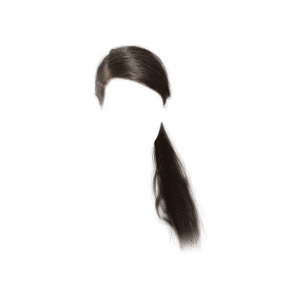 Black Side Ponytail Hair