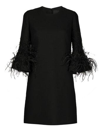 Valentino Feather Detail Shift Dress Ss20 | Farfetch.com