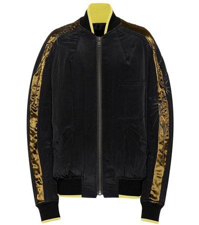 Silk crêpe bomber jacket