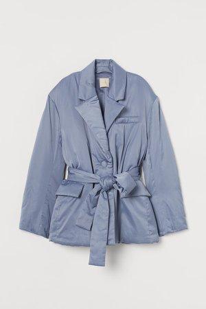 Padded Blazer-style Jacket - Blue