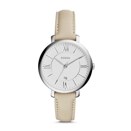 Jacqueline Beige Leather Watch - Fossil