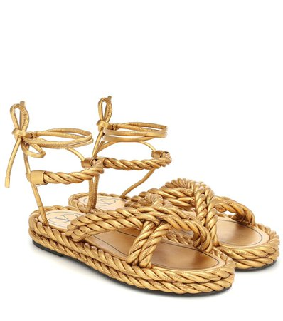 Valentino Garavani The Rope Leather Sandals | Valentino - Mytheresa
