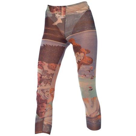 Jean Paul Gaultier Botticelli Venus Sheer Net Leggings at 1stdibs