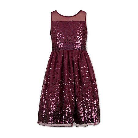 Speechless Girls Sleeveless Party Dress - Big Kid, Color: Raisin - JCPenney