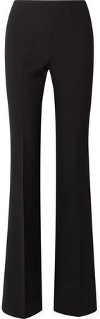 Crepe Flared Pants - Black