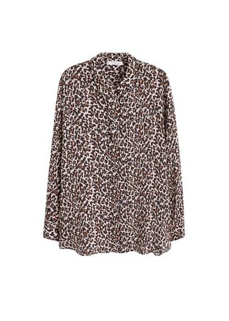 Violeta BY MANGO Animal print shirt