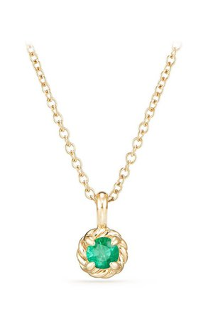 David Yurman Cable Collectibles® Kids' Birthstone Necklace in 18K Gold | Nordstrom