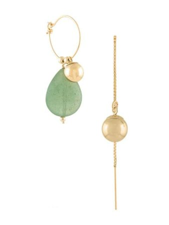 Petite Grand Jade Drop Earrings 1010G Gold | Farfetch