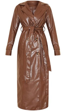 brown trench coat