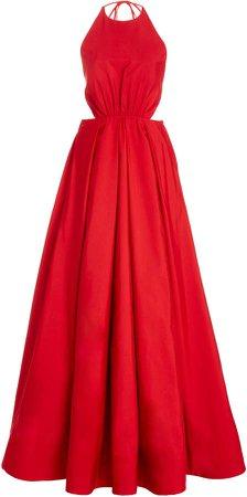 Staud Georgia Halter Maxi Dress