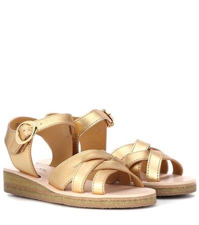 Ada metallic leather sandals