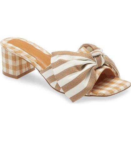 JAGGAR Bow Stripe Slide Sandal (Women) | Nordstrom