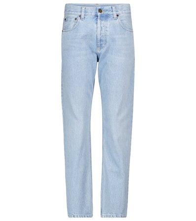 Saint Laurent - High-rise slim jeans   Mytheresa