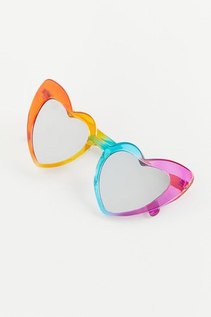 Over The Rainbow Heart Sunglasses | Urban Outfitters