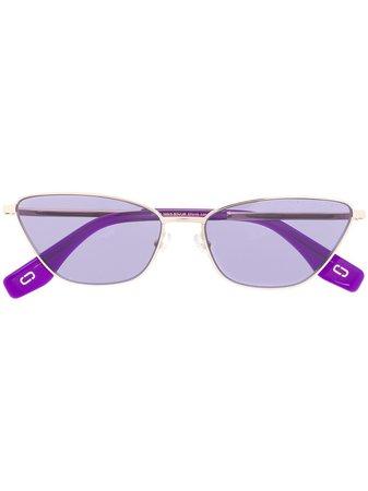 Marc Jacobs Eyewear Cat-Eye Shaped Sunglasses MARC369S Gold | Farfetch