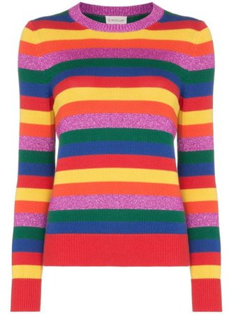 Moncler Rainbow Stripe Jumper - Farfetch