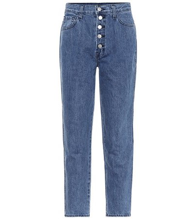 Heather high-rise jeans