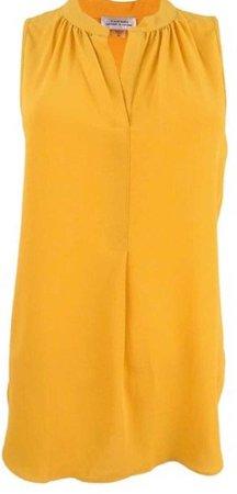 goldenrod blouse