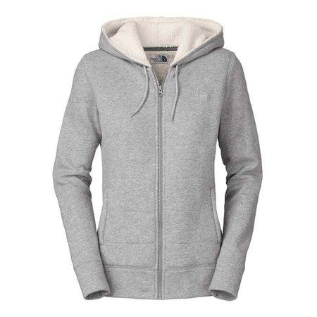 Light Grey Women's Zipper Hoodie