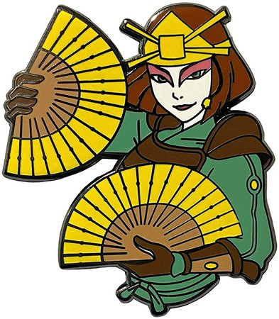 Amazon.com: Suki and her Fans - Avatar The Last Airbender Collectible Pin: Clothing