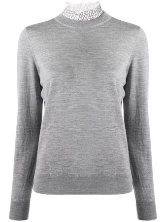 Sandro Paris funnel-neck Fitted Jumper - Farfetch