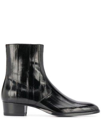 Saint Laurent Wyatt Zipped Boots - Farfetch