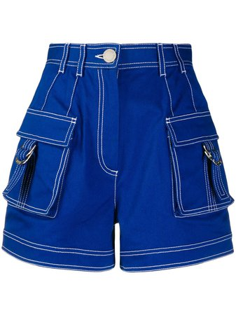 Balmain Short En Jean à Taille Haute - Farfetch