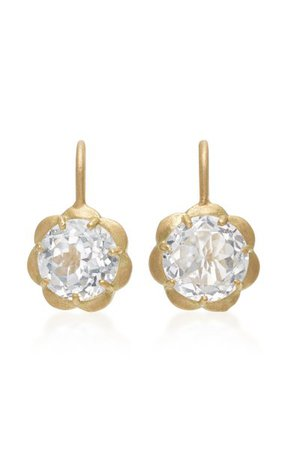 18k Gold And White Topaz Earrings By Jamie Wolf   Moda Operandi