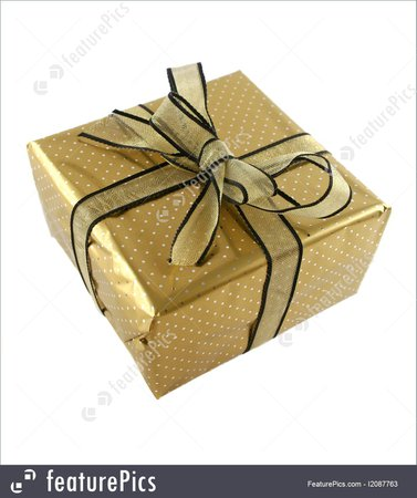 gold wrapped gift - Google Search