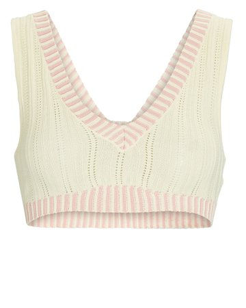 For Love and Lemons Rhea Pointelle Crop Top | INTERMIX®