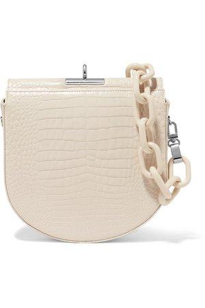 Gu_de | Demi-Lune croc-effect leather shoulder bag | NET-A-PORTER.COM