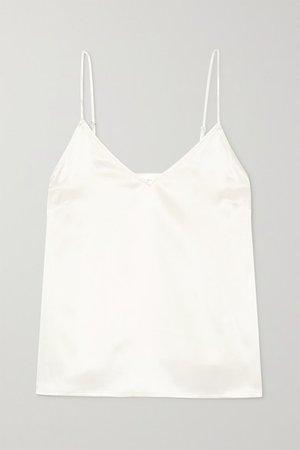 Gwyneth Silk-satin Camisole - Ivory