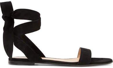Suede Sandals - Black