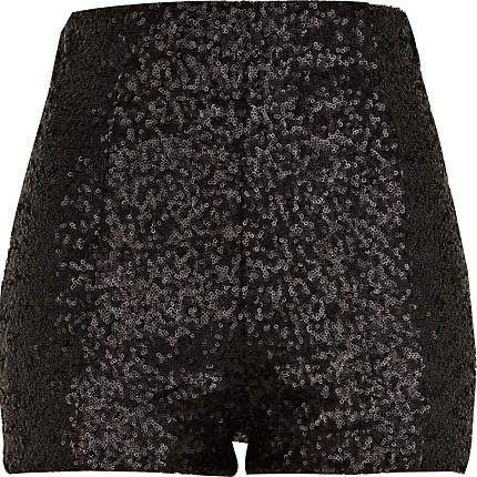 black sparkly shorts