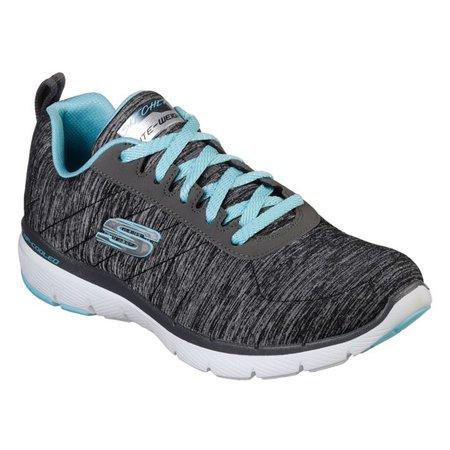 Skechers - Skechers Flex Appeal 3.0 Insiders Sneaker (Women) - Walmart.com - Walmart.com grey