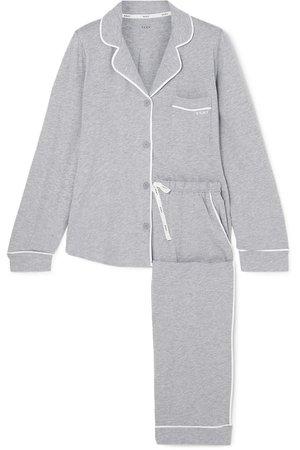 DKNY   Signature cotton-blend jersey pajamas   NET-A-PORTER.COM